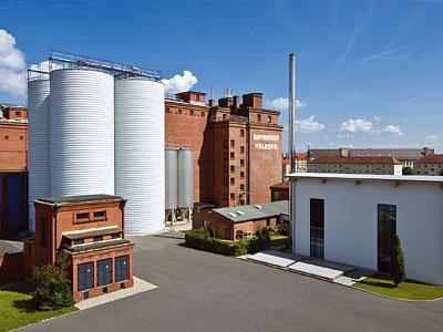 Die Produktionsgebäude der Bamberger Mälzerei