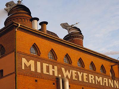 Fassadendetail der Mälzerei Weyermann