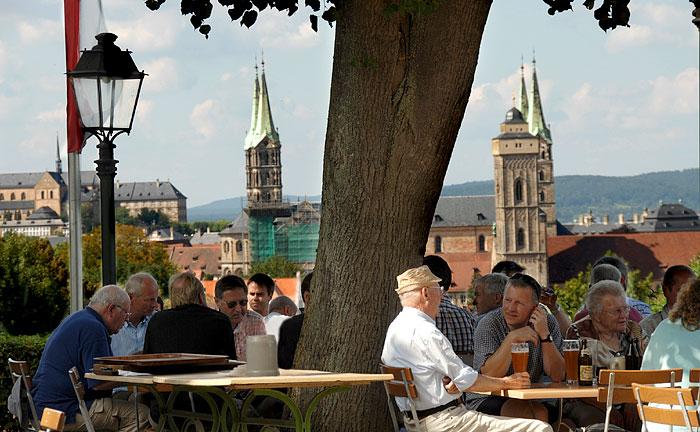 Blick vom Spezialkeller auf Bamberg
